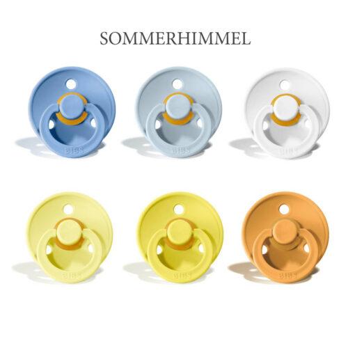 Bibs Colour 6 stk Sommerhimmel – latex sutter i str. 2