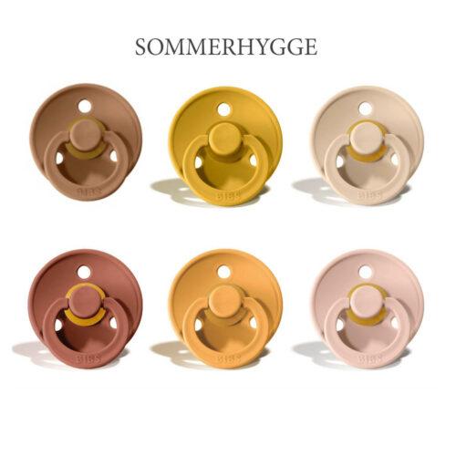 Bibs Colour 6 stk Sommerhygge – latex sutter i str. 2
