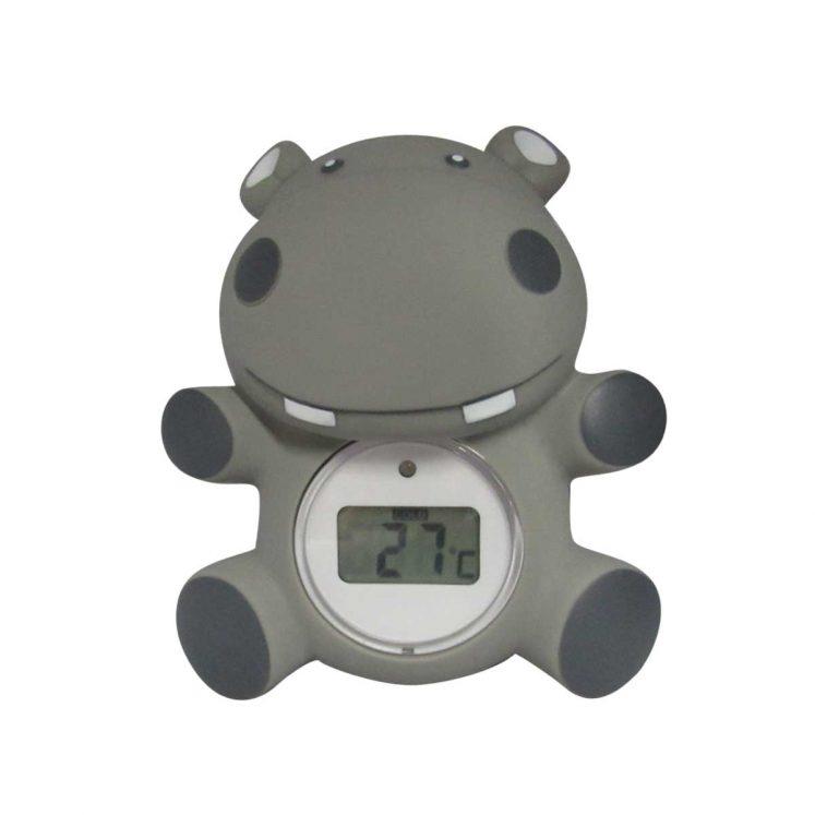 Badetermometer, grå flodhest fra Oopsy