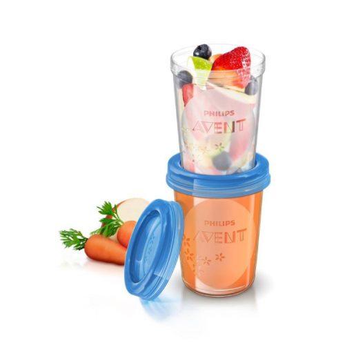 VIA Mælke opbevarings kopper (5stk x 240ml) fra Philips Avent