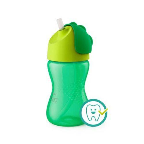 Kop med sugerør, 300 ml i Grøn fra Philips Avent