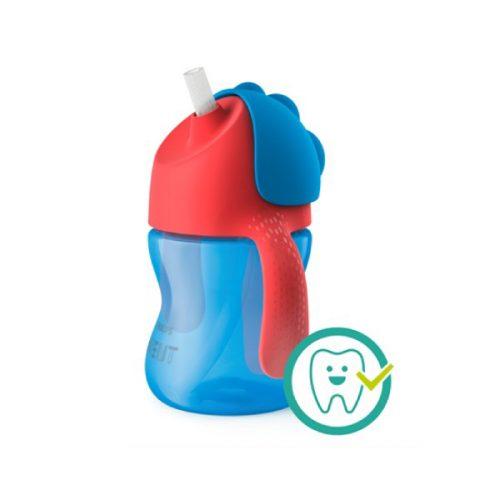 Kop med sugerør, 200 ml i Blå og Rød fra Philips Avent