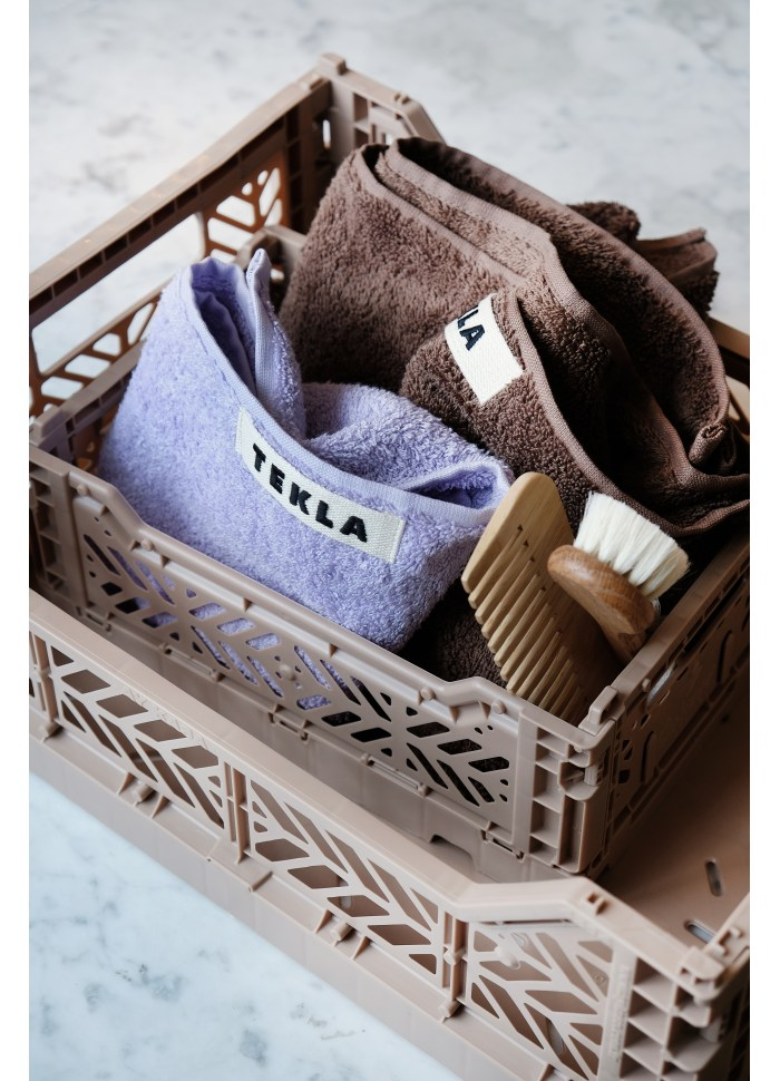 ay kasa mini og midi kasser i farven taupe til opbevaring