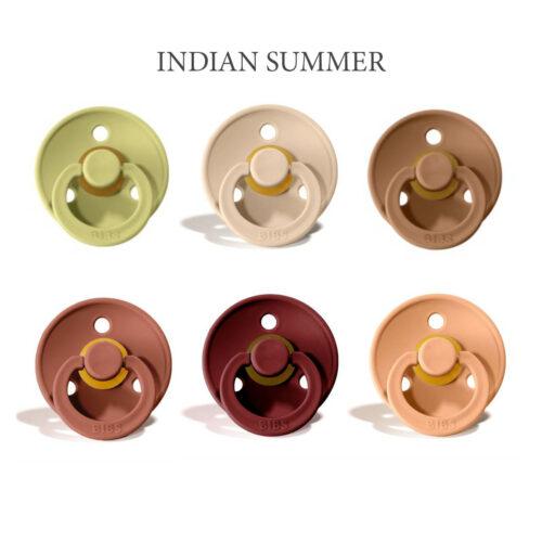 Bibs Colour 6 stk Indian Summer Mix – latex sutter i str. 2
