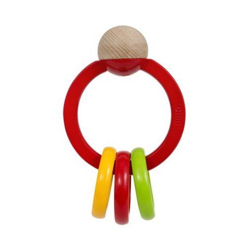 Bidering & rangle i rød plast fra Brio