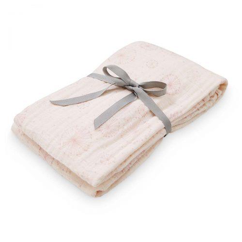 Svøb i Rosa med smukt mælkebøtte mønster fra Cam Cam (øko)