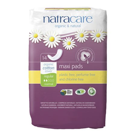 Bind Maxi pads fra Natracare