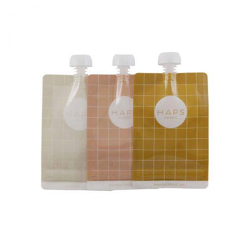 Smoothieposer, genanvendelige op til 50 gange i varme farver fra Haps Nordic