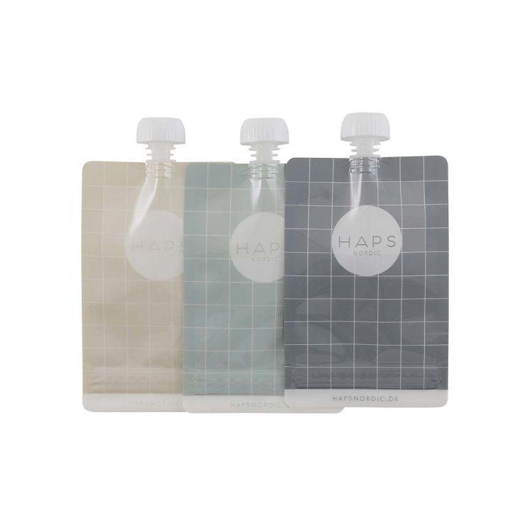 Smoothieposer, genanvendelige op til 50 gange i kølige farver fra Haps Nordic