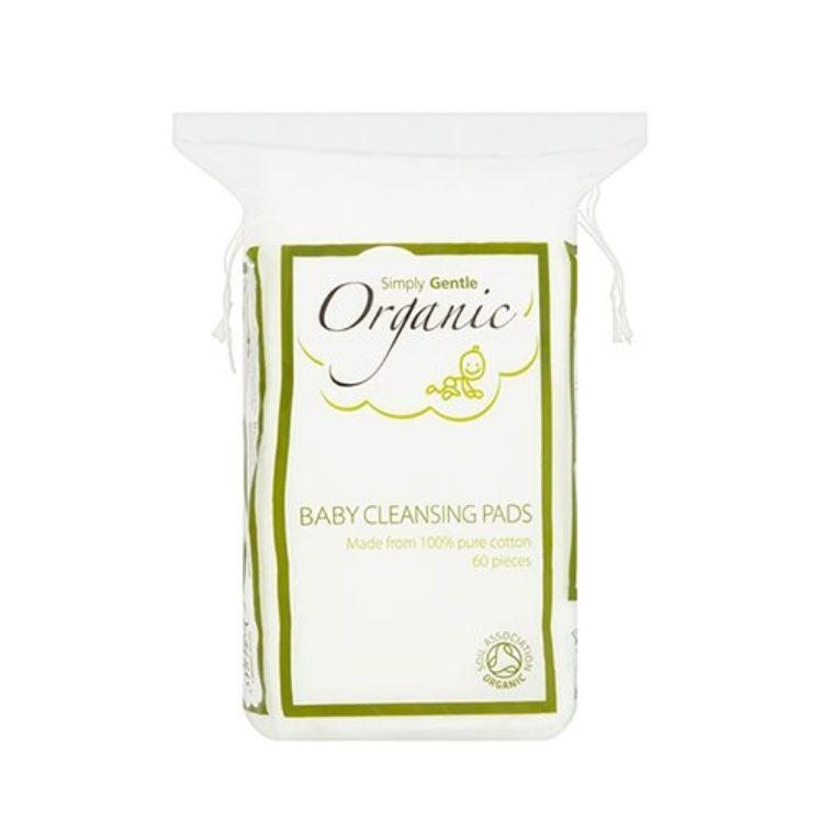 Baby Pads i økologisk bomuld, pakke med 60 stk fra Simply Gentle
