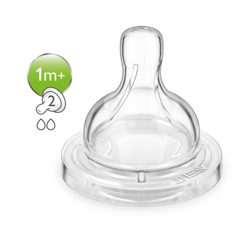 Sutteflaske Anti-kolik sutter, 2-pak (flere størrelser) fra Philips Avent