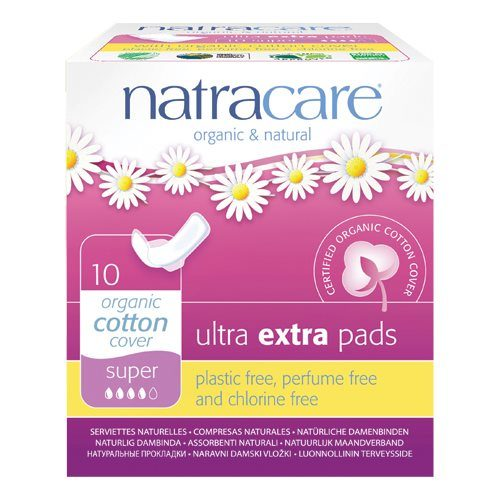 Bind, ultra ekstra pads fra Natracare