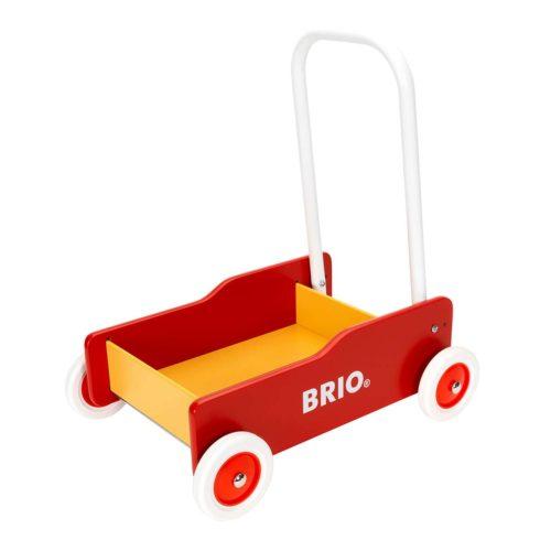 Gåvogn i rød og gul fra Brio