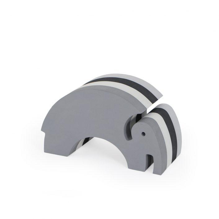 Elefant i grå striber (lille) fra bObles