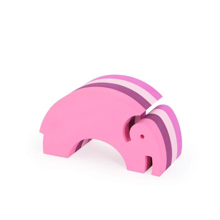 Elefant i lyserøde striber (lille) fra bObles