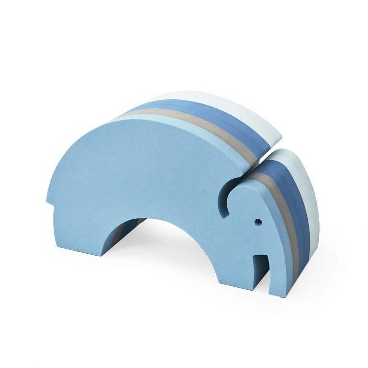 Elefant i blå striber fra bObles