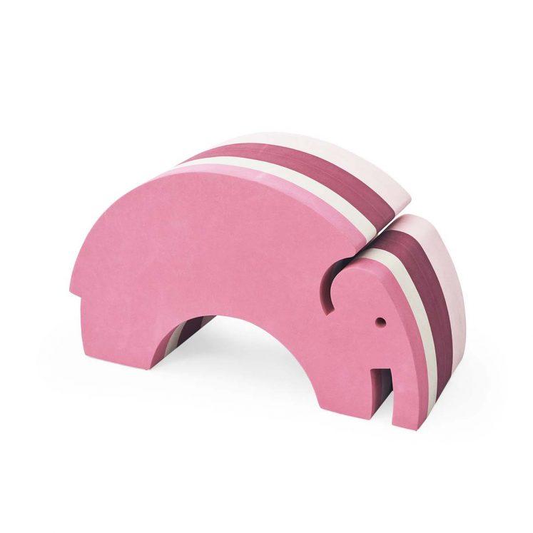 Elefant i lyserøde striber fra bObles