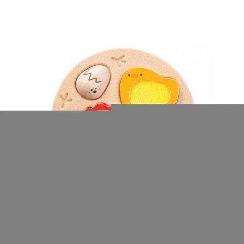 Puslespil fra æg til høne fra PlanToys