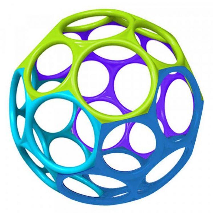 Oball Original Bold i lyseblå, blå, tyrkis og lilla