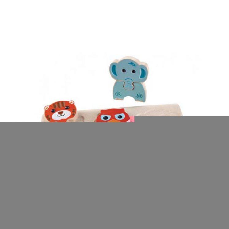 Puslespil i træ med dyr fra PlanToys