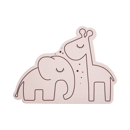 Dækkeserviet eller til at spise af i rosa silikone fra Done by Deer