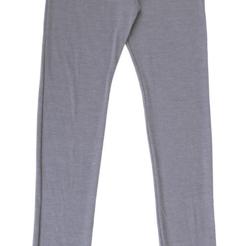 Grå uld/silke leggings med blondekant fra Joha