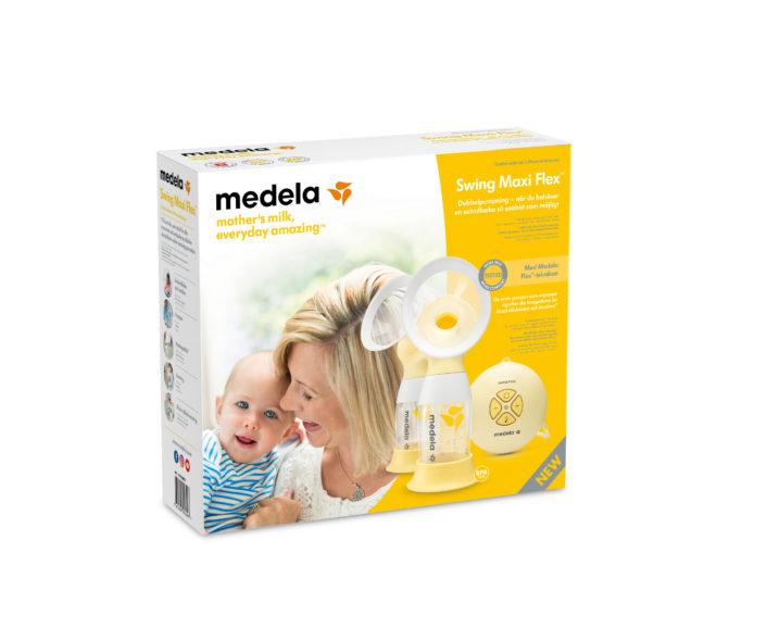 Brystpumpe, elektrisk dobbeltpumpe Swing Maxi Flex fra Medela