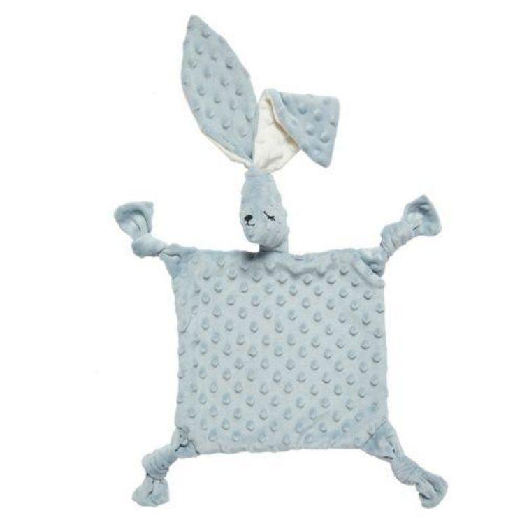 Nusseklud sovende Kanin (stor) i blågrå med lange bløde øre fra Elva Senses