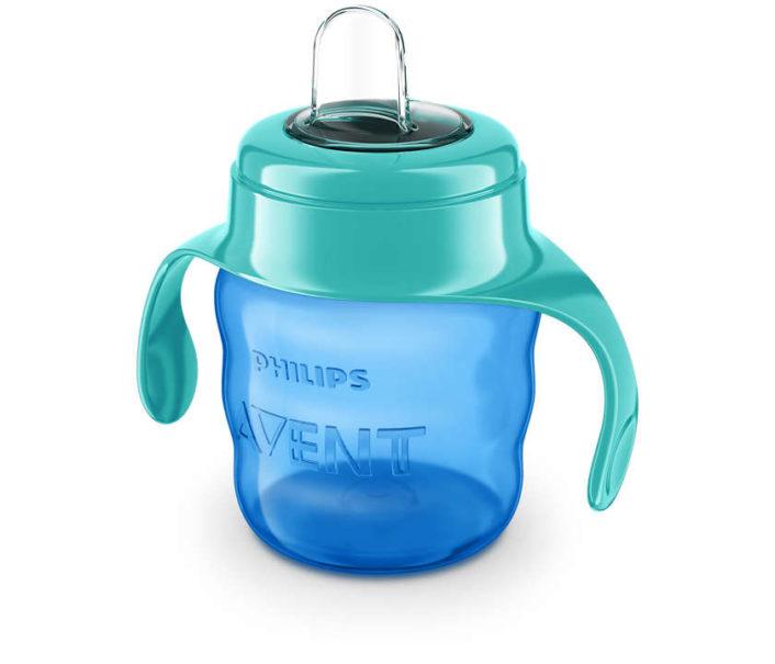 Tudkop i blå nuancer med håndtag fra Philips Avent, 200 ml.