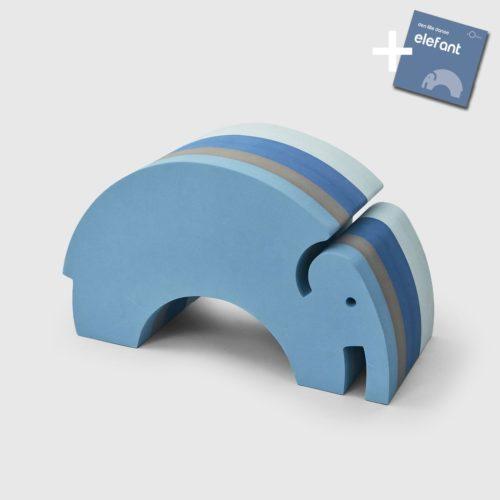 Elefant i blå striber (stor) fra bObles