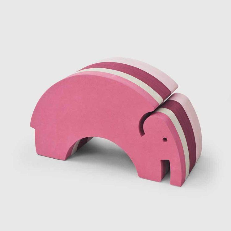 Elefant i pink striber (stor) fra bObles
