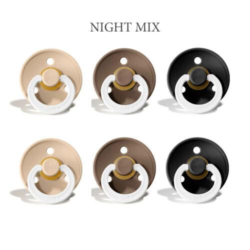 Bibs Colour -NIGHT Mix 1 med 2 vanilla, 2 Dark Oak og 2 Black i str. 2