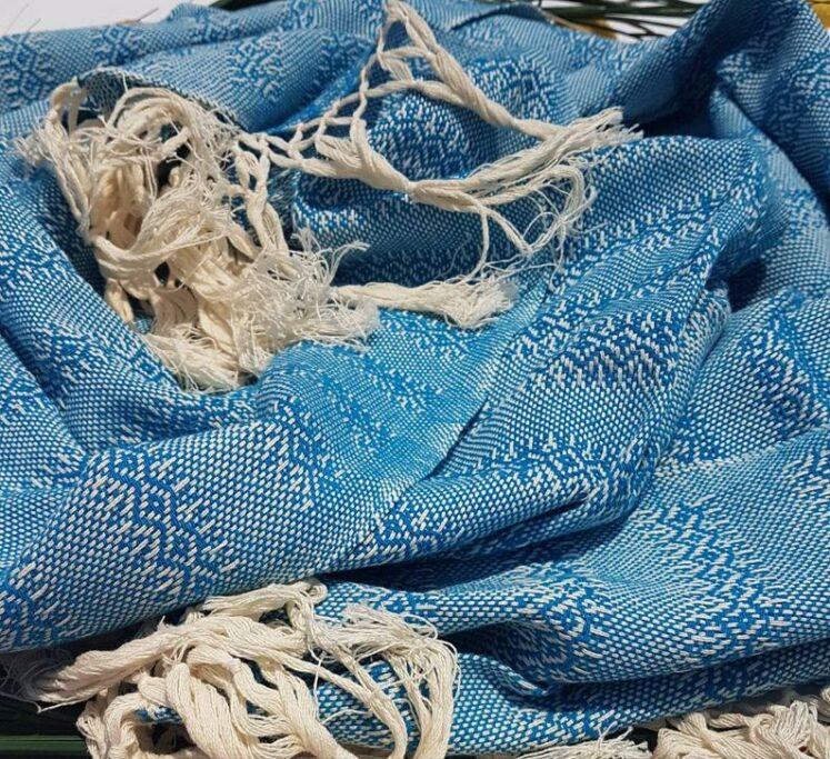 Rebozo sjal i blå, fra Mexico 2,5 m
