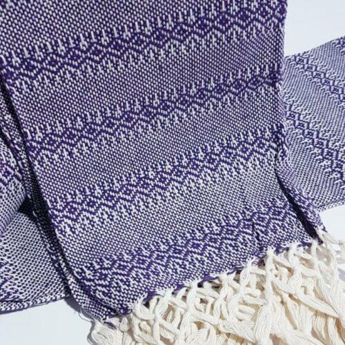 Rebozo sjal i lilla, fra Mexico 2,5 m