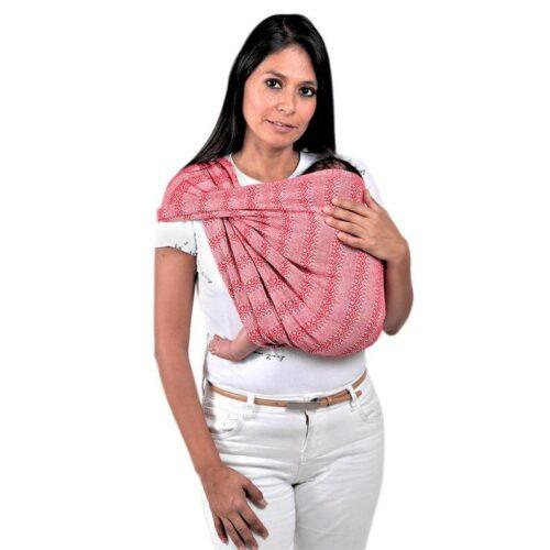 Rebozo sjal i rød, fra Mexico 2,5 m