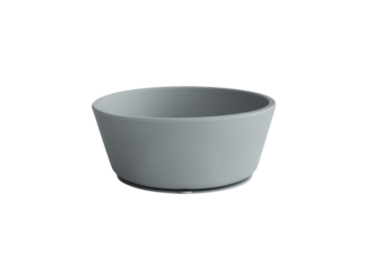 Silikone skål med sugekop i Stone fra Mushie