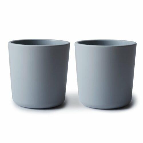 Kopper i lys grå, 2 stk. fra Mushie