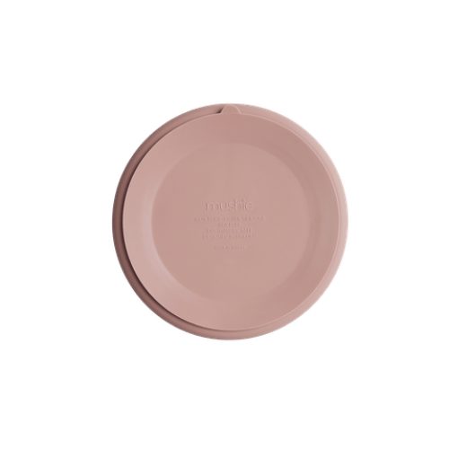 Silikone tallerken med sugekop i Blush fra Mushie