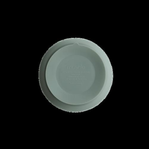 Silikone skål med sugekop i Cambridge Blue fra Mushie