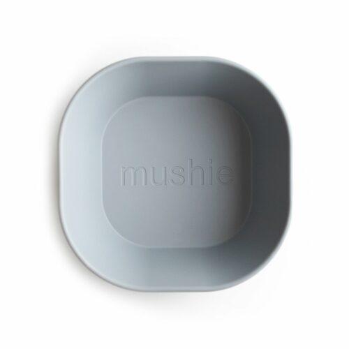 Skål i Lys grå (firkantet), 2 stk. fra Mushie