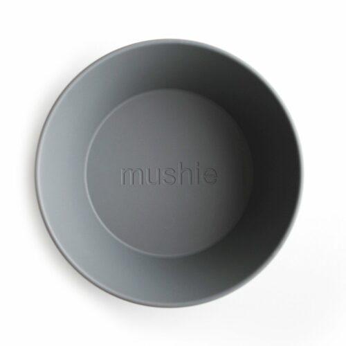 Skål i Mørk grå (rund), 2 stk. fra Mushie
