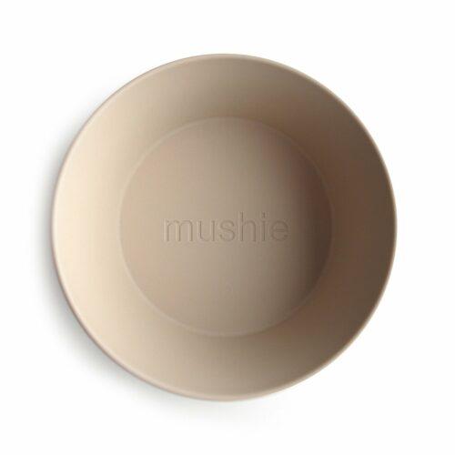Skål i Vanilje (rund), 2 stk. fra Mushie