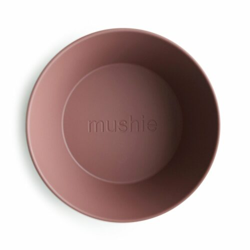Skål i Mørk blush (rund), 2 stk. fra Mushie