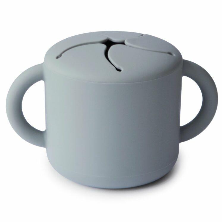Snack-kop i grå fra Mushie