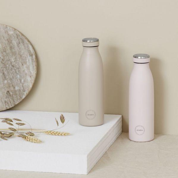 Aya & ida drikkeflasker til kolde og varme drikke i farverne beige og soft rose