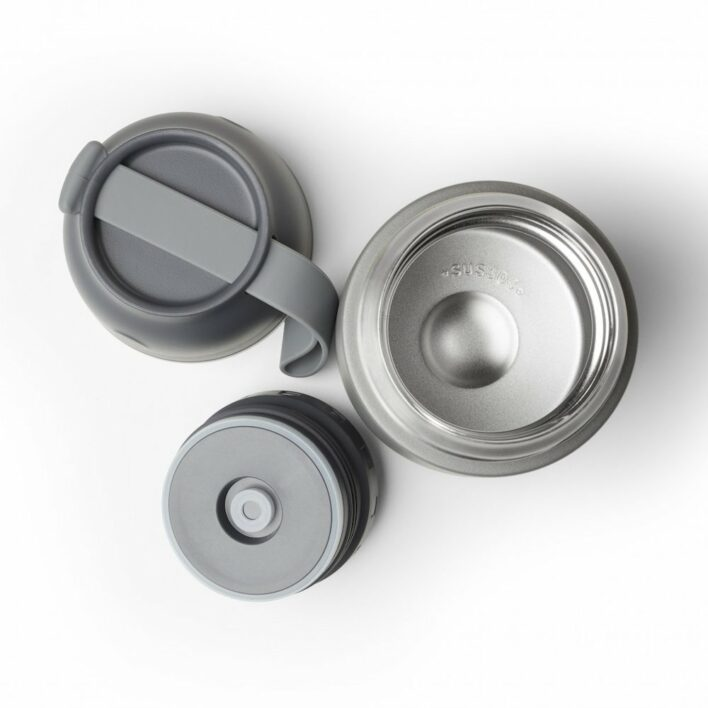Aya&ida foodie thermo madkasse dark grey set oppefra