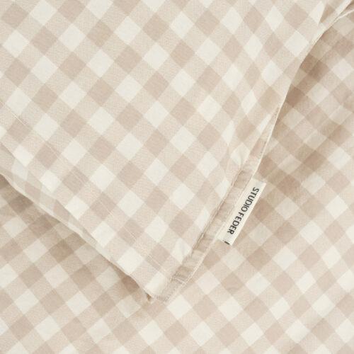 Sengetøj til baby, Gingham Oat fra Studio Feder