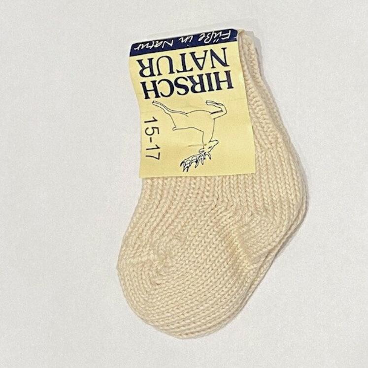 Baby sokker str 15-17 (100% bomuld), fra Hirsch Natur