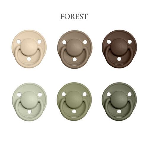 Bibs DE LUX 6 stk. Forest – latex sutter i str. 2