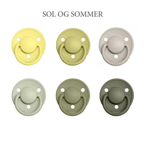 Bibs DE LUX 6 stk. Sol & Sommer- latex sutter i str. 2